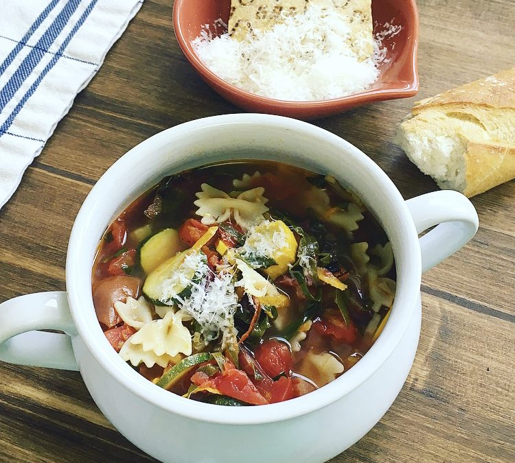 Mediterranean: Simple minestrone soup for the soul